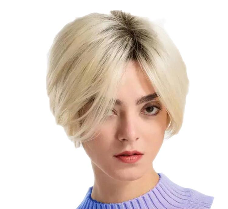 Short Blonde Human Hair Wig Big Star Hair And Beauty